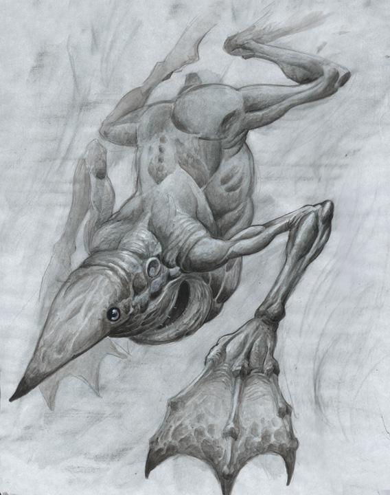 Dougblot Pond Goblin Sketch